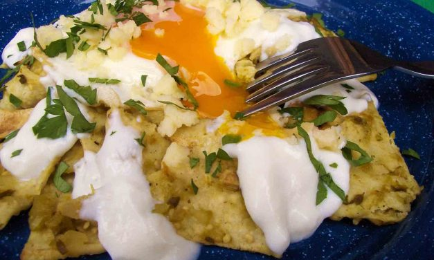 Chilaquiles Con Huevos — Tortillas and Eggs with Salsa Verde