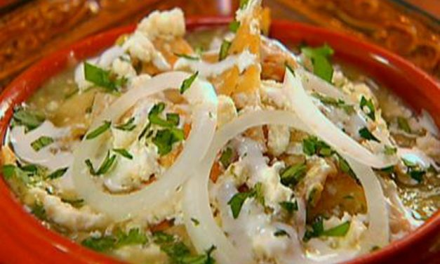 Chilaquiles with Roasted Tomatillo Salsa