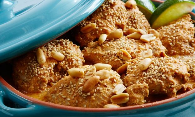Chicken Braised in Pipian Peanut Sauce